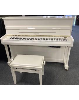 Piano blanc laqué d'occasion avec silencieux