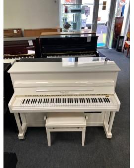 Piano G STECK blanc ivoire d'occasion avec silencieux